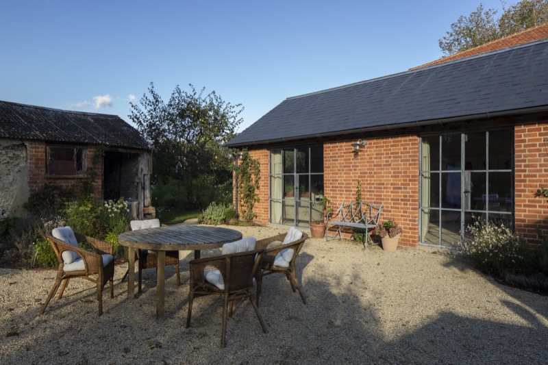 Project number 2484 - Outside the converted barn/family dining and kitchen